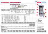 Parts List for Lutena Vacuum conveyors